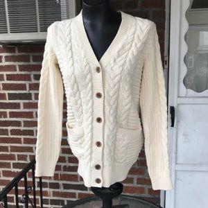 Gap Cream Cable Knit Cardigan